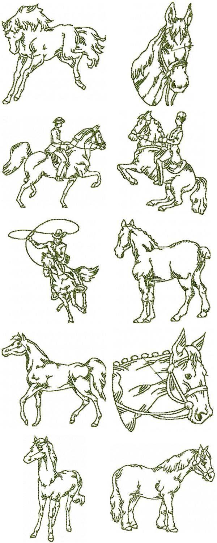 free hand stitching patterns   Free Sewing Pattern – Horse ...