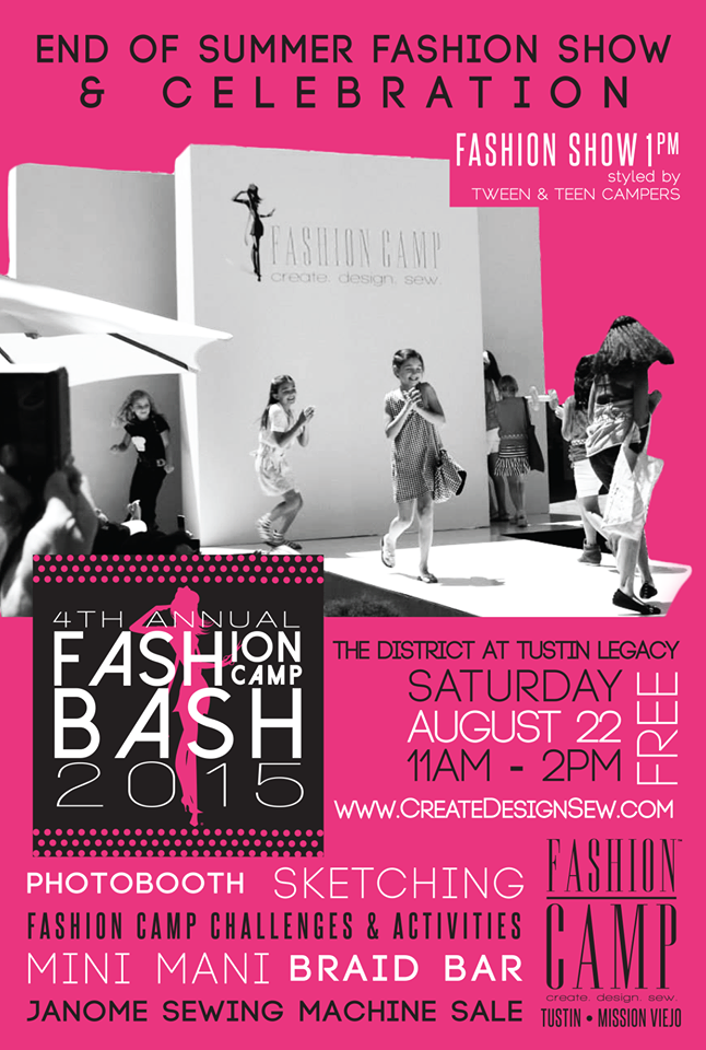 Fashion Camp S 4th Annual Fashion Camp Bash Is Coming Next Month Come Out For An Afternoon Of Fun Camp Style Hair Accessories Braids Challenges Activities