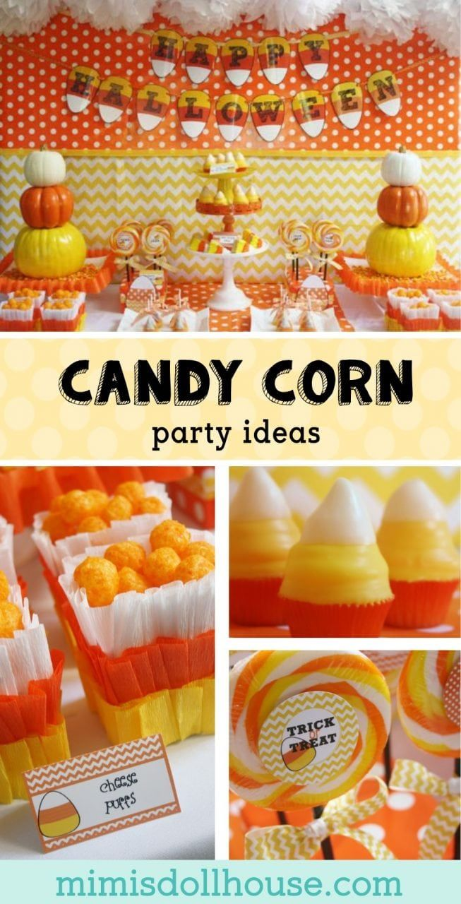 halloween: candy corn party ideas | halloween party ideas- group