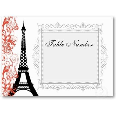 Vintage Eiffel Tower Place Cards Place cards, Tower and Cards - place card template