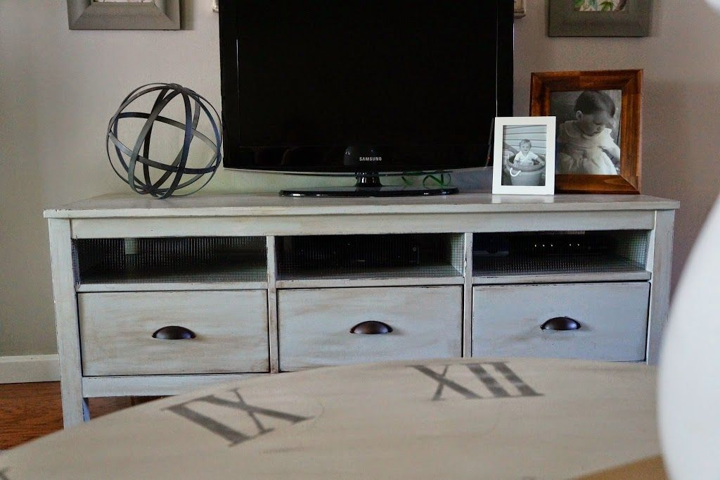 new arrival 386aa 9e74b Farmhouse Hemnes Makeover | Home office | Tv stand ikea hack ...