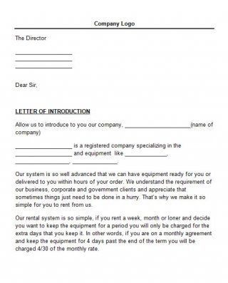 Download Letter Of Introduction Template   Sample Letters