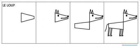 Dessin Loup Paint Jpg Sprookjes Roodkapje Wolf Tekeningen