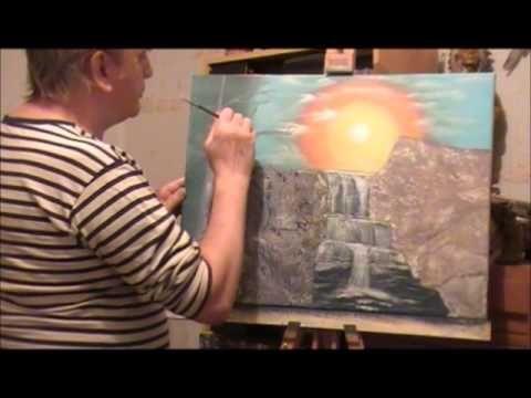 Cours N 2 En Peinture Acrylique Cascade Dans Les Bois Jean Marie