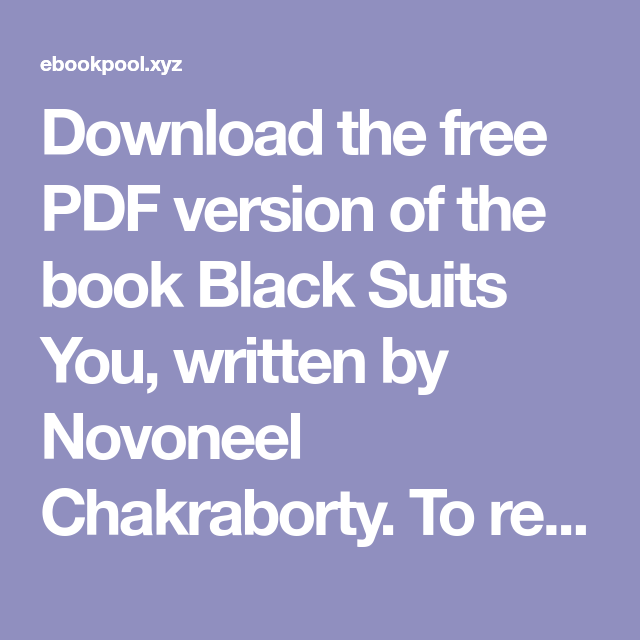 black suits you novoneel chakraborty pdf free download