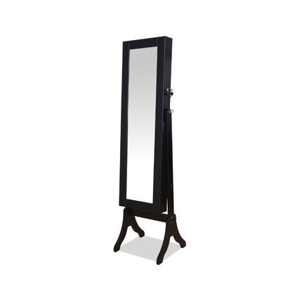Au0026J Homes Studio Hylda Free Standing Jewelry Armoire With Mirror