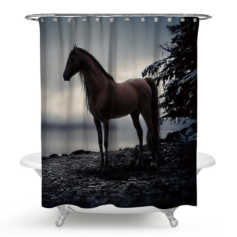 Modern Creative Shower Curtain Handsome Courser 3d Printing Shower