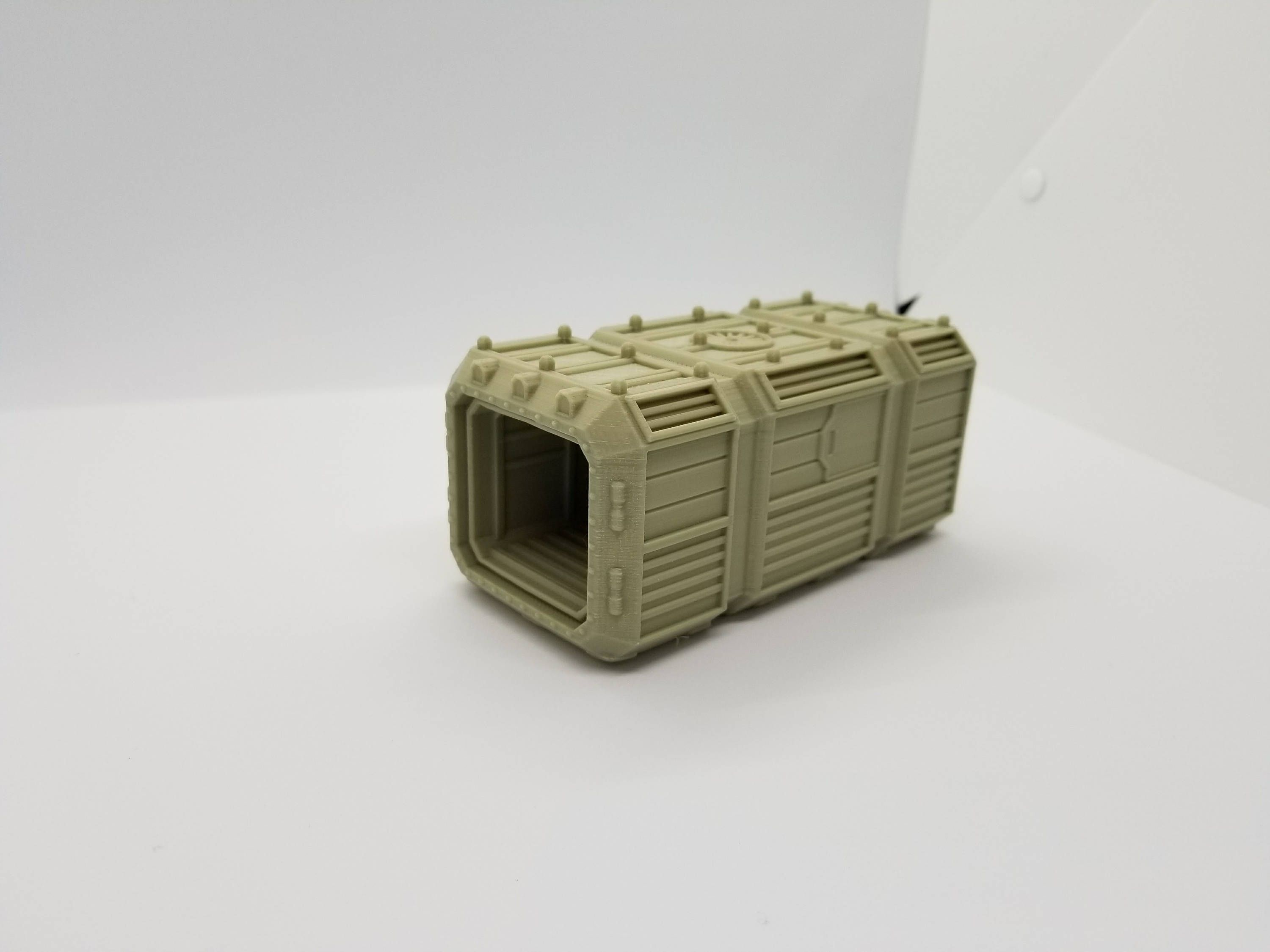 Warlayer / 3d Printed Sci-Fi Open Door Crate / 28mm Wargaming