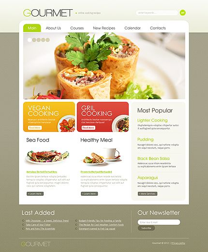 Great now im hungry check out this gourmet food website design check out this gourmet food website design forumfinder Image collections