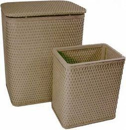 Chelsea Collection Hamper And Matching Wastebasket Set 4262mo By Redmon 67 29 Made In Usa High Gloss Enamel Chelsea Collection Hamper And Matching Wastebas Con Immagini