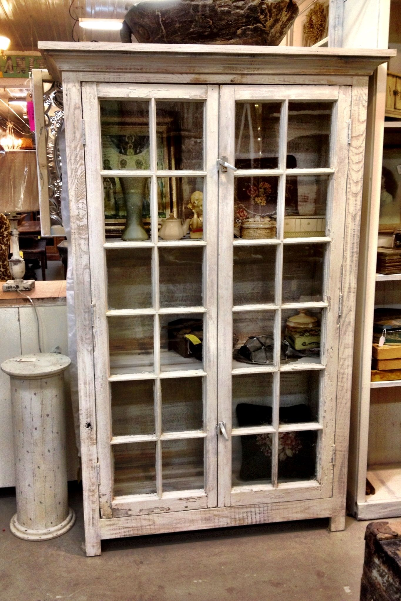 nice old windows in a new cabinet at green oak