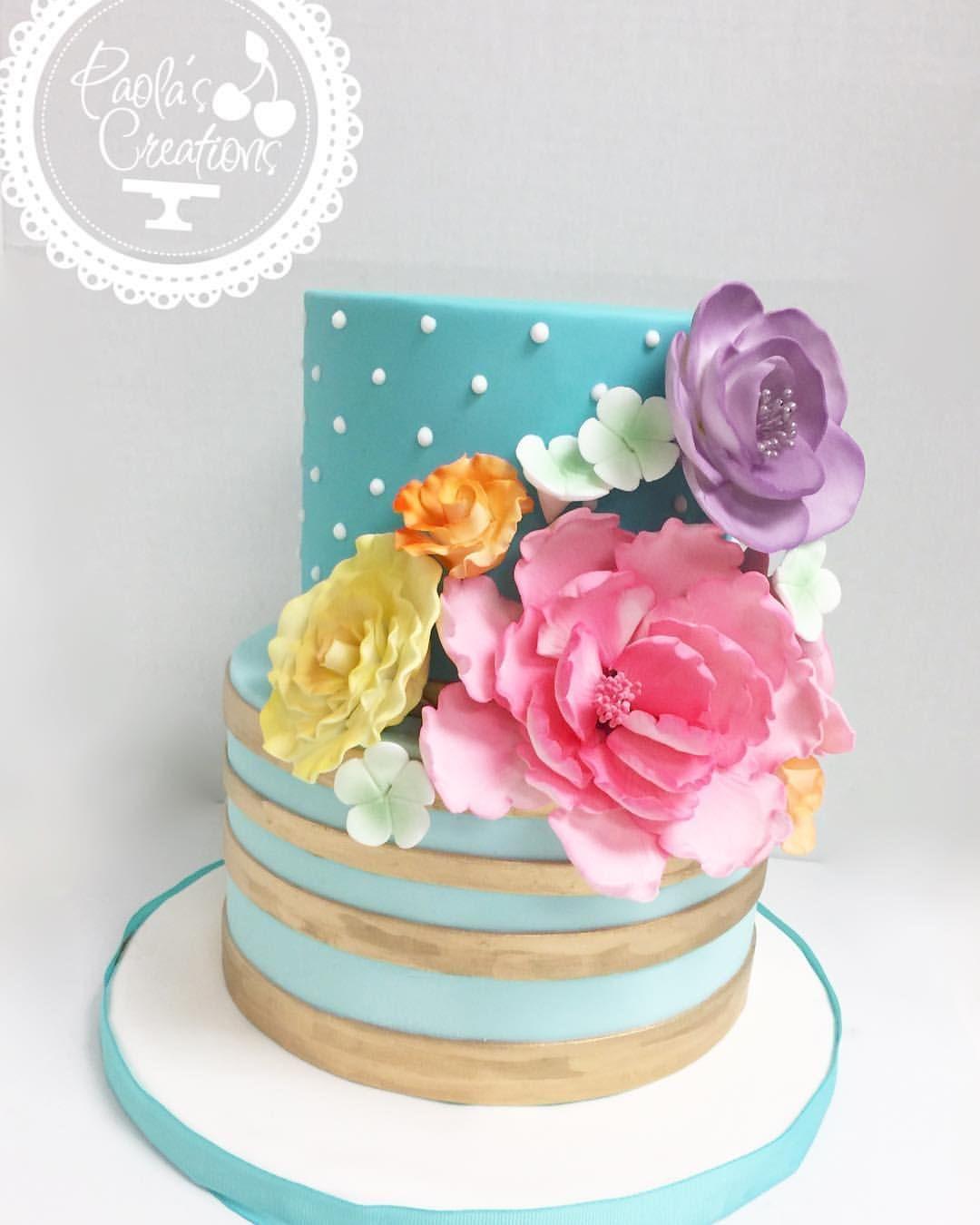 Chic Flowers Cake cake custom customcakes miami miamicakes