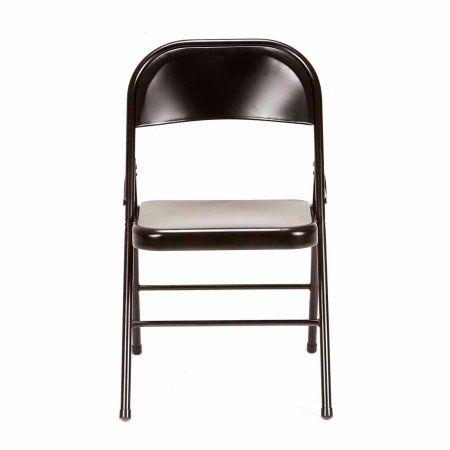 Mainstays Steel Chair Set Of 4 Multiple Colors Black Metal Folding Chairs Steel Chair Folding Chair