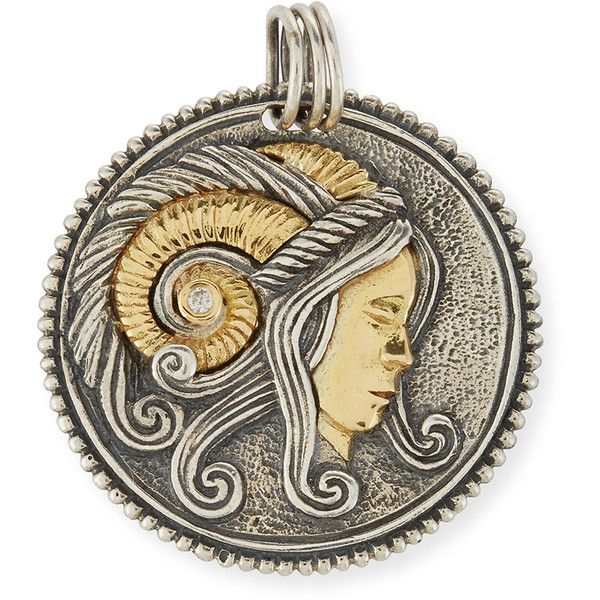 Konstantino Virgo Carved Zodiac Pendant with Diamond D0HDB