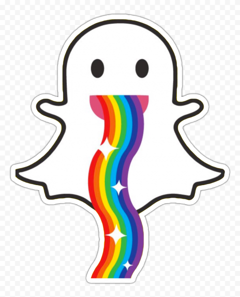 Hd Snapchat Ghost Rainbow Stickers Png Image Rainbow Png Rainbow Stickers Png Images