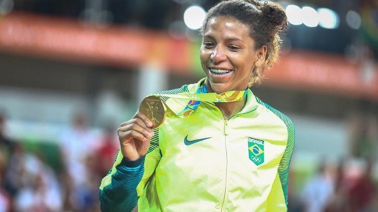 Rafaela Silva dá ao Brasil sua primeira medalha de ouro na Rio-2016 - 08/08/2016 - UOL Olimpíadas