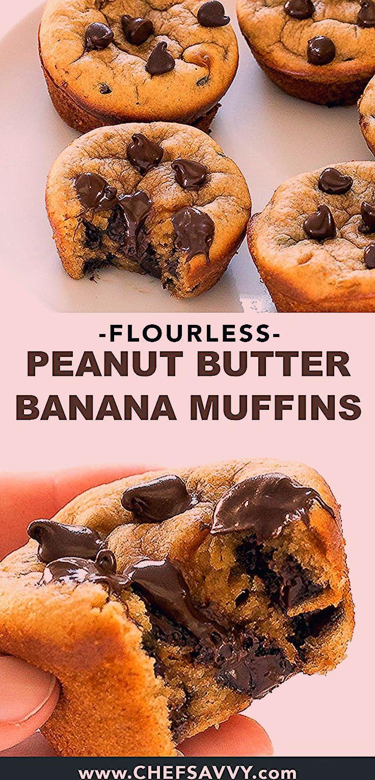 Photo of Flourless Peanut Butter Banana Muffins