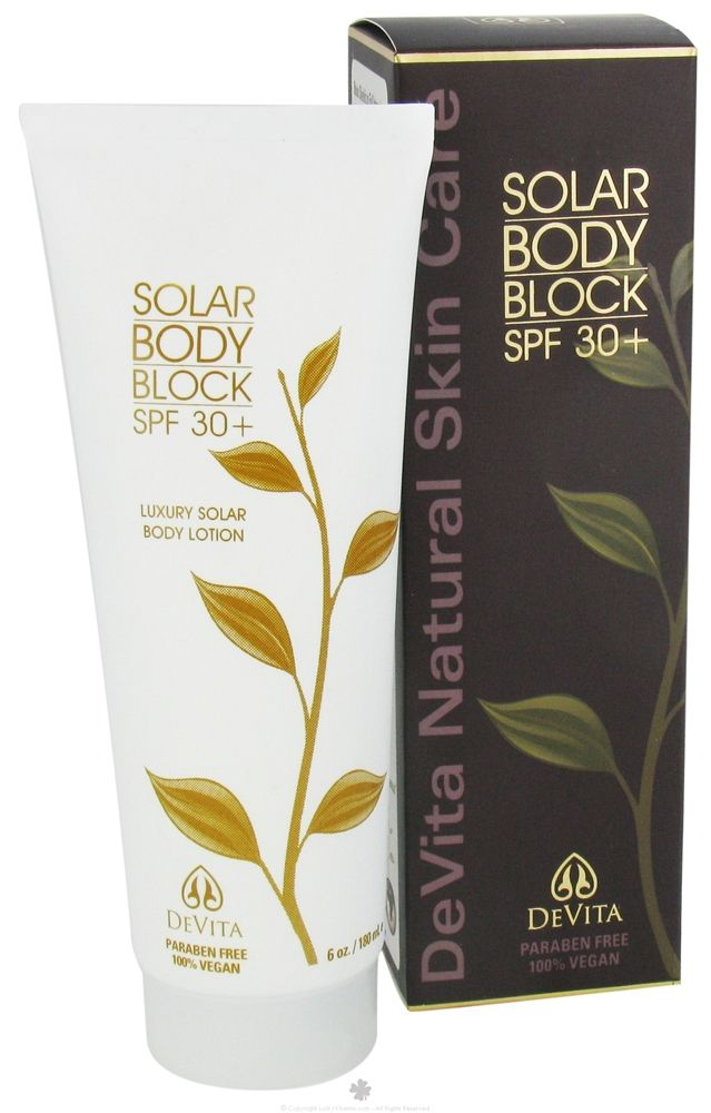 Great Stuff Devita Solar Body Block Spf 30 Gentle Soothing Physical Sunscreen With 19 Z Natural Skin Care Best Natural Skin Care Paraben Free Products