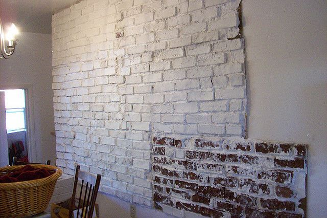 fake tile wall with plaster of paris