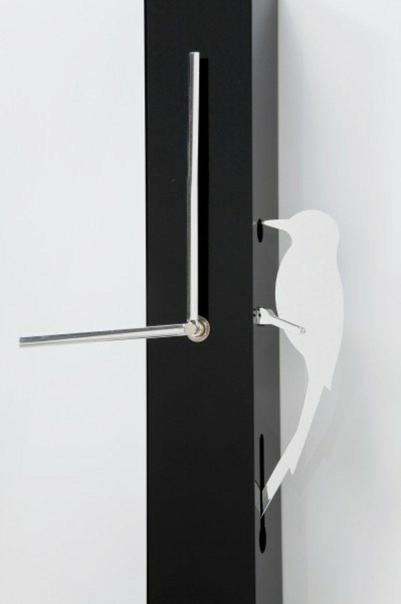 Moderne Wanduhren ohne mechanischem Uhrzeiger Metall schwarz Kuckuck Vogel