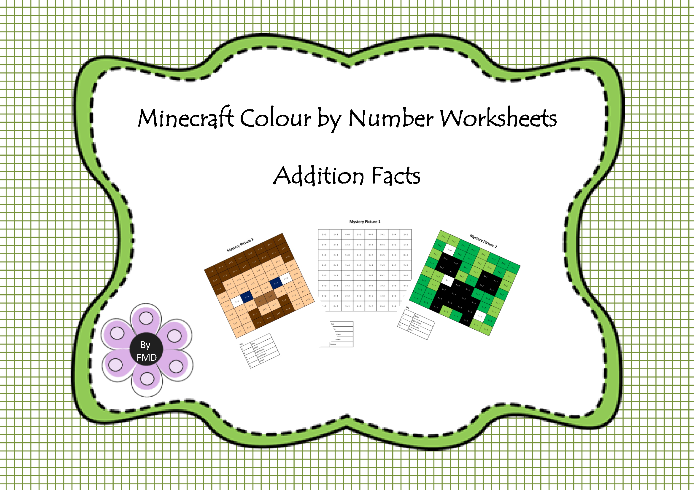 Minecraft Colour By Number