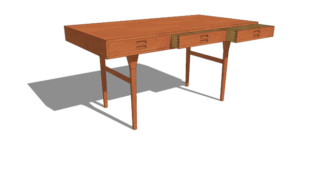 Seen On The 1stdibs Com Web Site A 3 Drawer Desk By The Danish Husband And Wife Team Of Nanna And Jorgen Ditzel They De Desk With Drawers Desk Teak Furniture