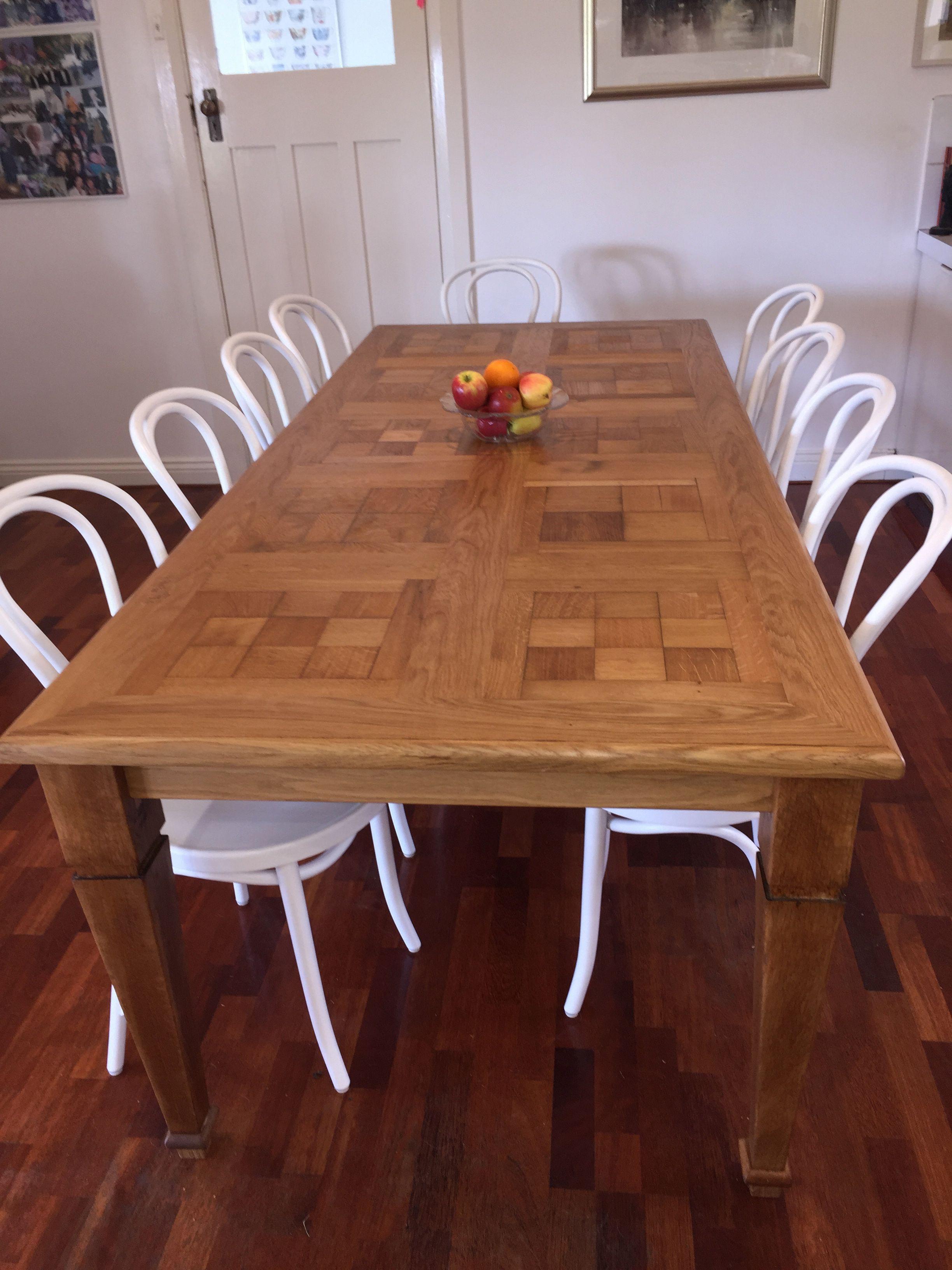Custom made parquetry dining table (con imágenes) Cocina