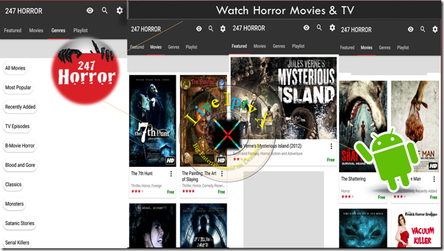 Watch TV Stream Online 247 Horror Movies & TV APK For