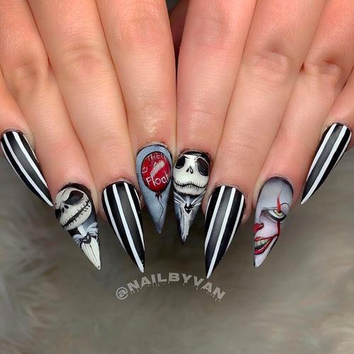 Halloween Nail Contest 2020 Best Halloween Nails 2020   31 Spooky Good Halloween Nails