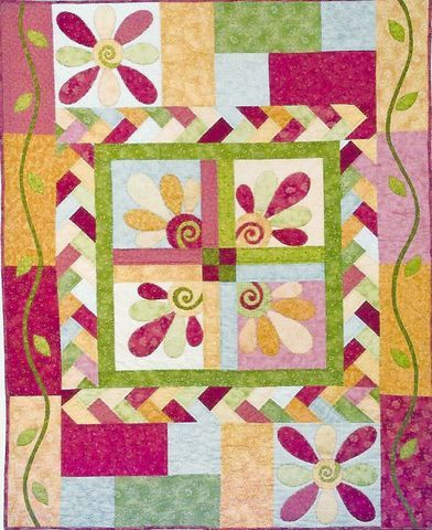 Fanciful Flowers Quilt Kit - I want to make this  :)