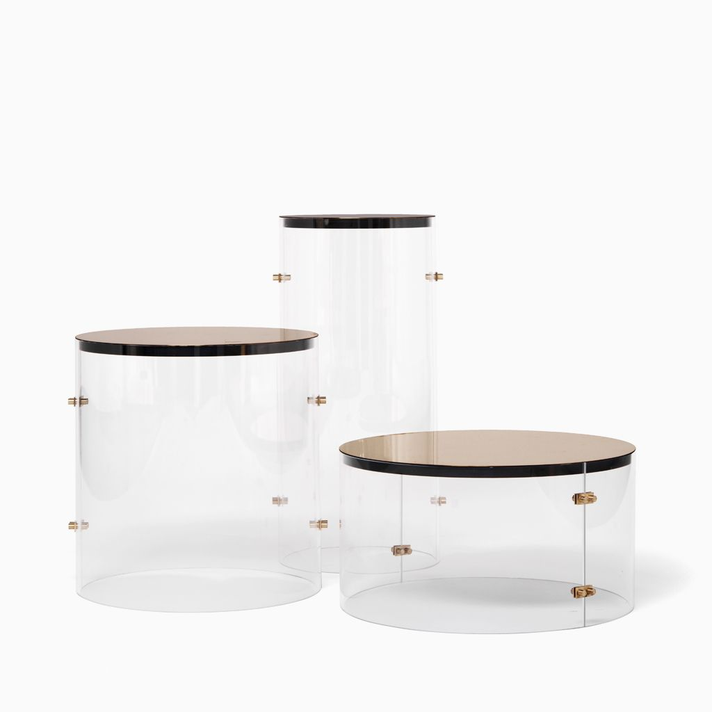 Brass Bauhaus Trio Demiurge New York Furniture side