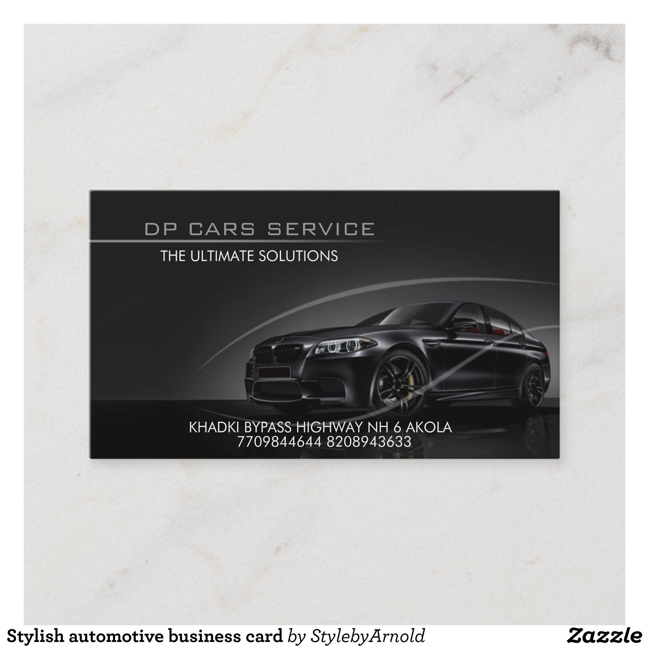 Stylish Automotive Business Card Zazzle Com In 2021 Business Cards Creative Business Cards Business Card Logo