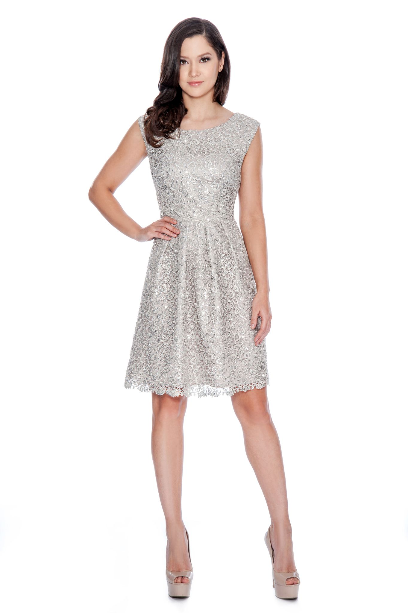 Decode 1.8 Silver Sequin Cocktail Dress. Style #182708 #decode18 ...