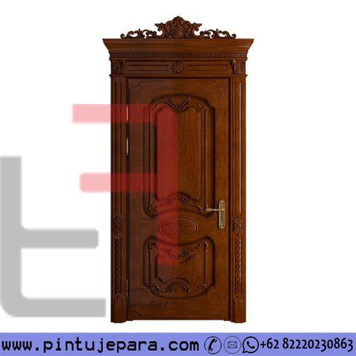 Classic Teak Carved Door 1 Leaf PJ-301