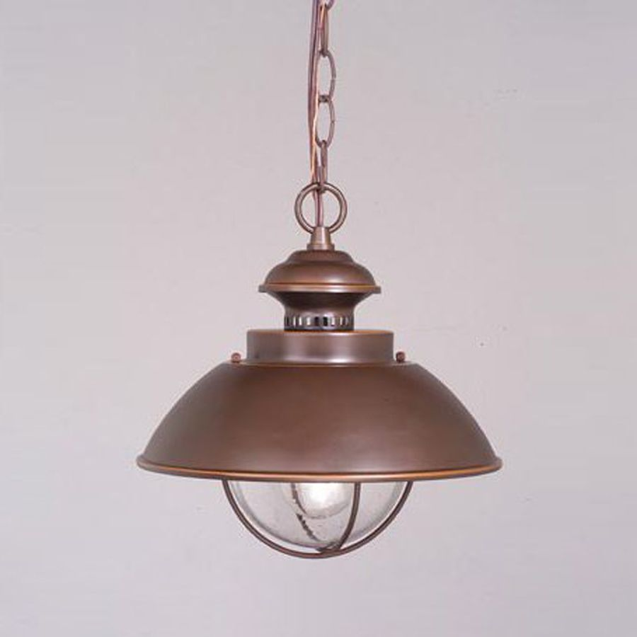 Awesome Shop Cascadia Lighting Nautical 10.75 In Burnished Bronze Hardwired Outdoor  Pendant Light At Lowes.