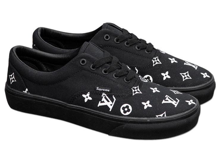 Black Vans Supreme x LV Era Skateboard Canvas Shoes  V1703  -  39.00   Vans  Shop 1b0a8ab63