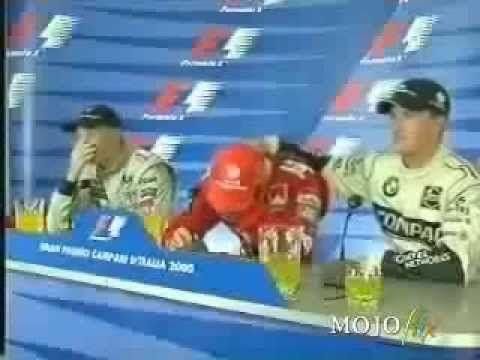 Schumacher chora ao Igualar Número de Vitórias de Ayrton Senna - YouTube