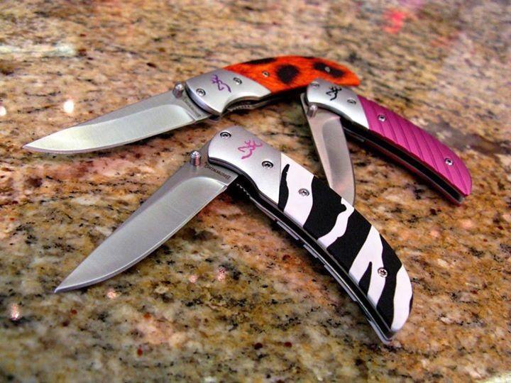 Ladies Browning Pocket Knife Zebra Pocket Knife For Girls