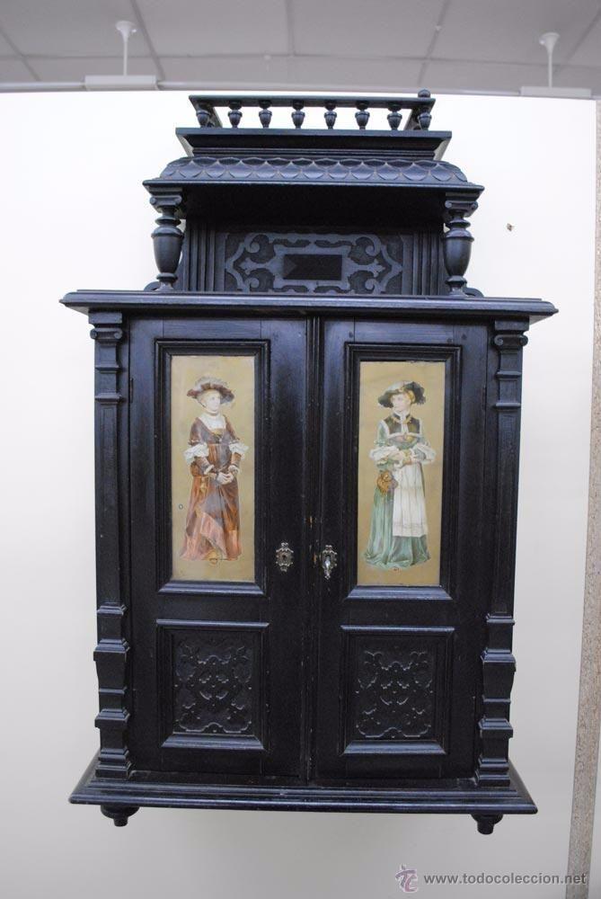 Mueblecito siglo xix pintado a mano muebles antiguos y - Muebles antiguos pintados ...