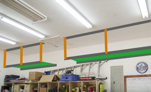 Measure the Area for the Shelves | DIY Garage Storage Shelves to Maximize Space & DIY Garage Storage Shelves to Maximize Space | Pinterest | Garage ...