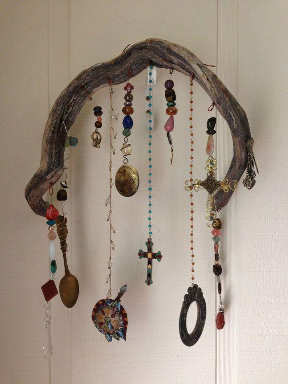 bohemian driftwood garden art gypsy chic pinterest bijoux en bois flott bijoux en bois. Black Bedroom Furniture Sets. Home Design Ideas