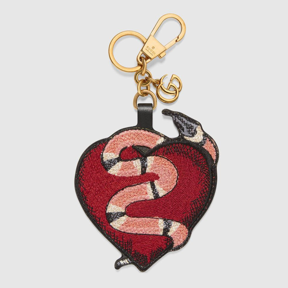 crystal embellished heart keychain - Black Gucci 4vF2h01Spr
