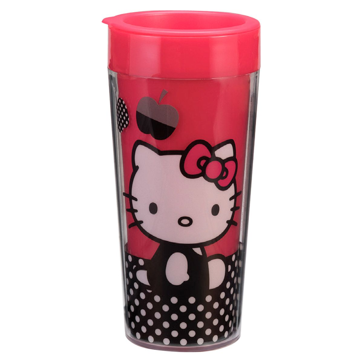 Hello Kitty Plastic Travel Mug for carrying out hot and