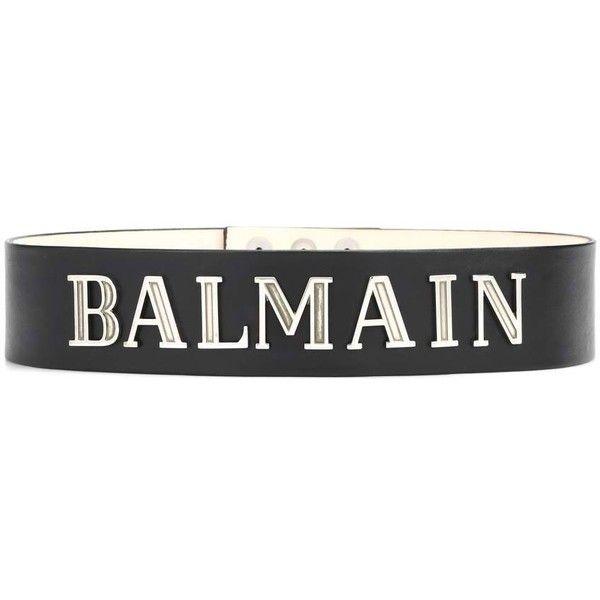 Ceinture En Cuir Logo Balmain E6nCE