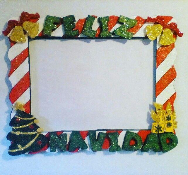 marco para fotos de feliz navidad