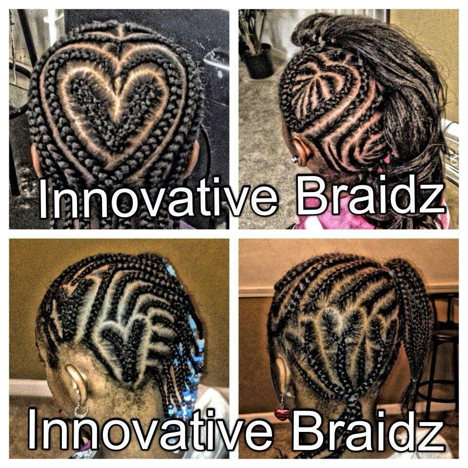 heart cornrows braided styles