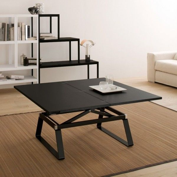 table basse moderne modulable en bois regolo table basse relevable en bois et table. Black Bedroom Furniture Sets. Home Design Ideas