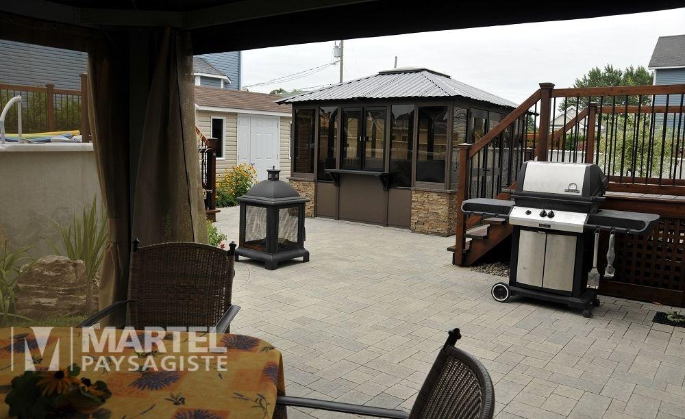 Cour Arriere A Usages Multiples Martel Paysagiste Patio Home Deco Outdoor Decor