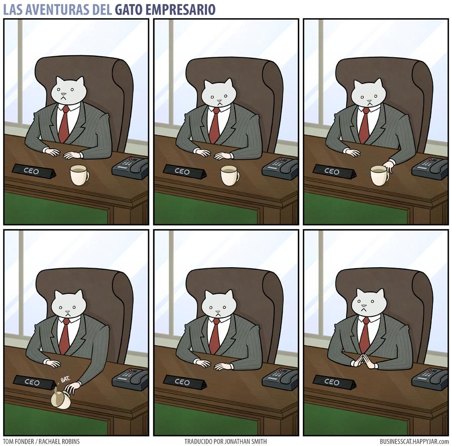 24 Divertidas Ilustraciones De Las Aventuras Del Gato Empresario