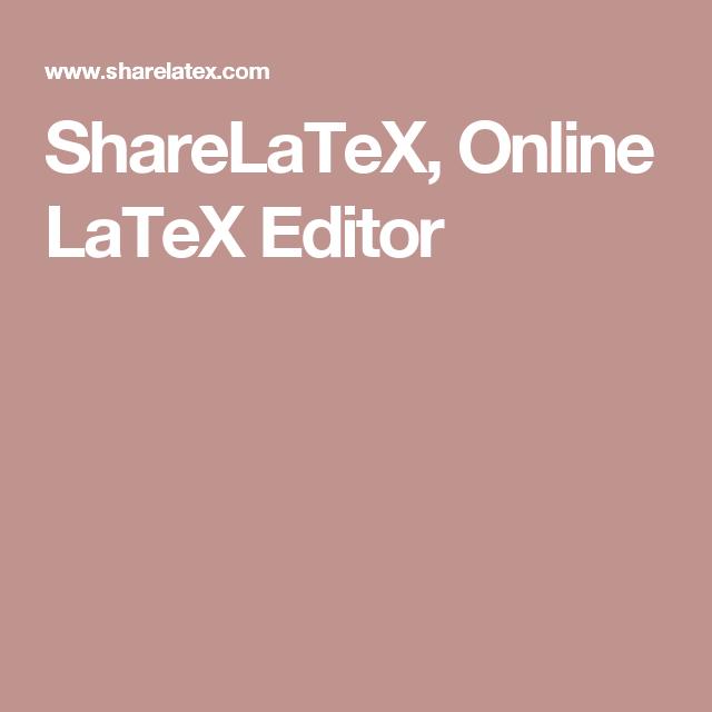 online latex editor